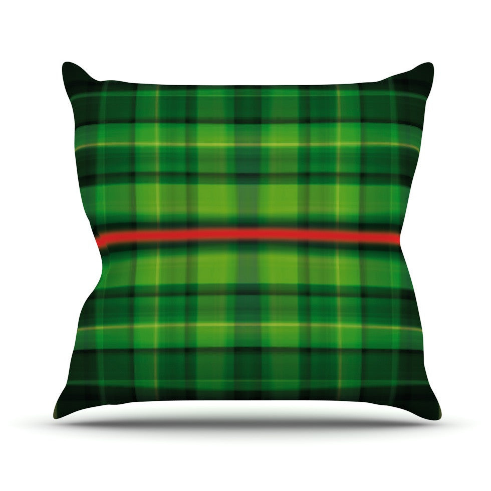 "Matthias Hennig ""Tartan"" Outdoor Throw Pillow - KESS InHouse  - 1"