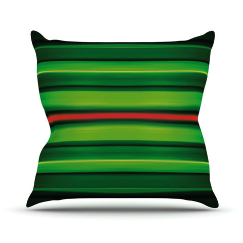 "Matthias Hennig ""Stripes"" Outdoor Throw Pillow - KESS InHouse  - 1"