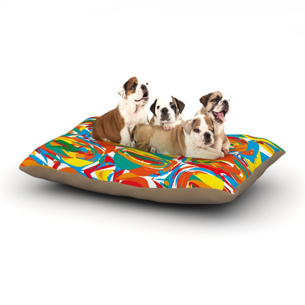 "Matthias Hennig ""Go Left Crazy"" Dog Bed - KESS InHouse  - 1"