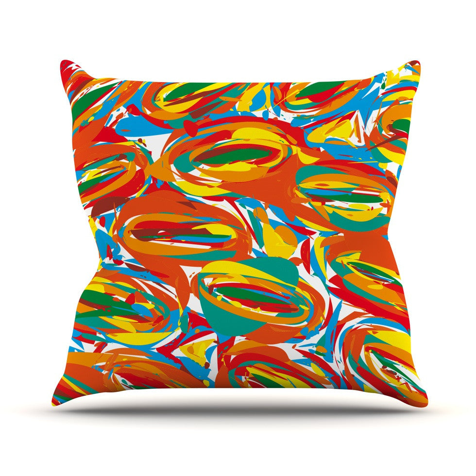 "Matthias Hennig ""Go Left Crazy"" Outdoor Throw Pillow - KESS InHouse  - 1"