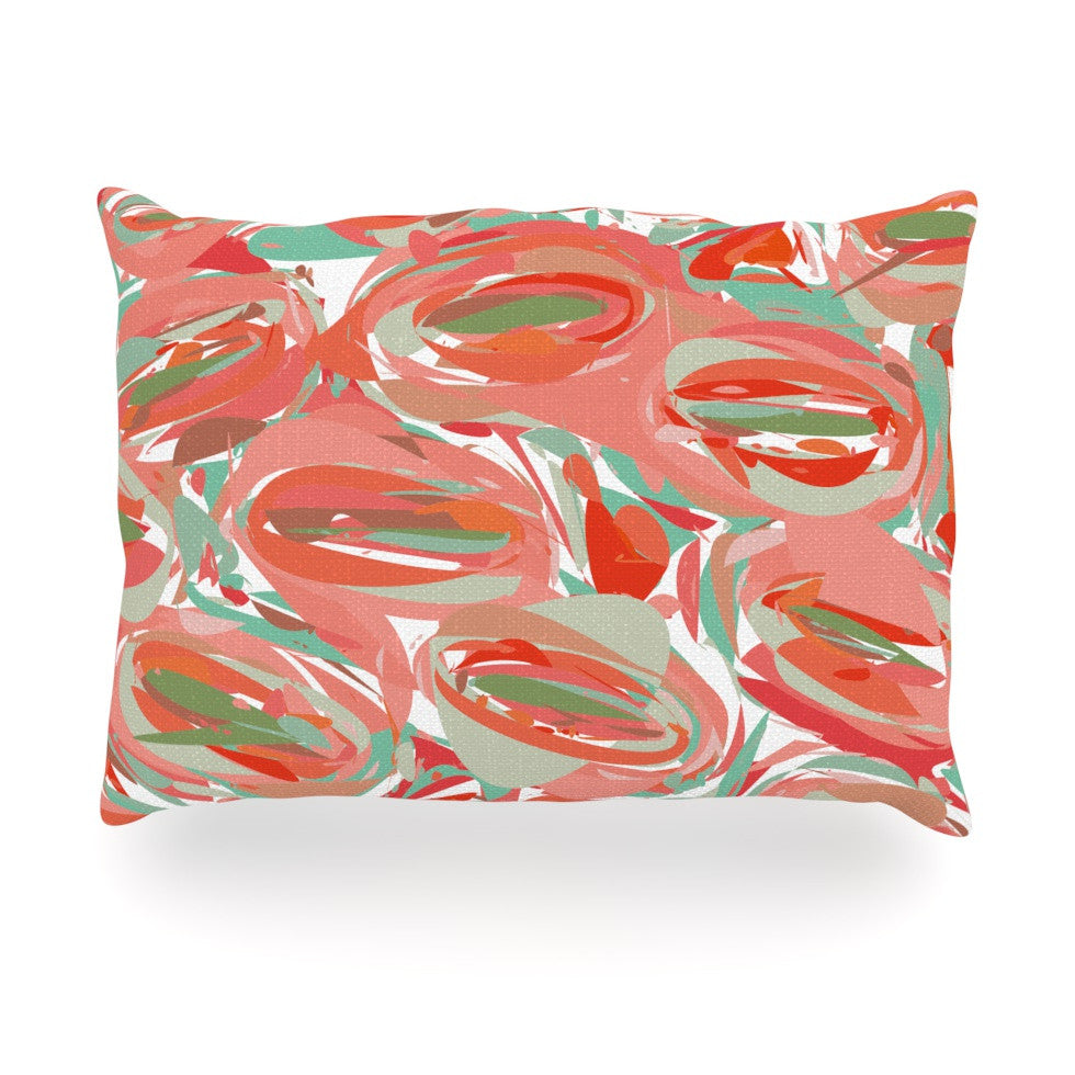 "Matthias Hennig ""Go Left Red"" Oblong Pillow - KESS InHouse"
