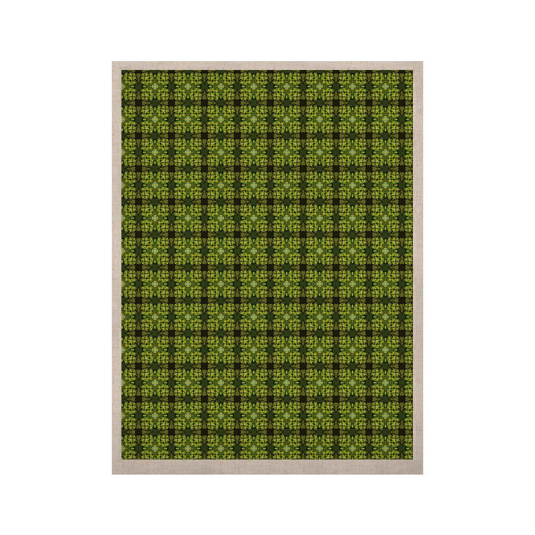 "Matthias Hennig ""Floral Green"" Floral Geometric KESS Naturals Canvas (Frame not Included) - KESS InHouse  - 1"