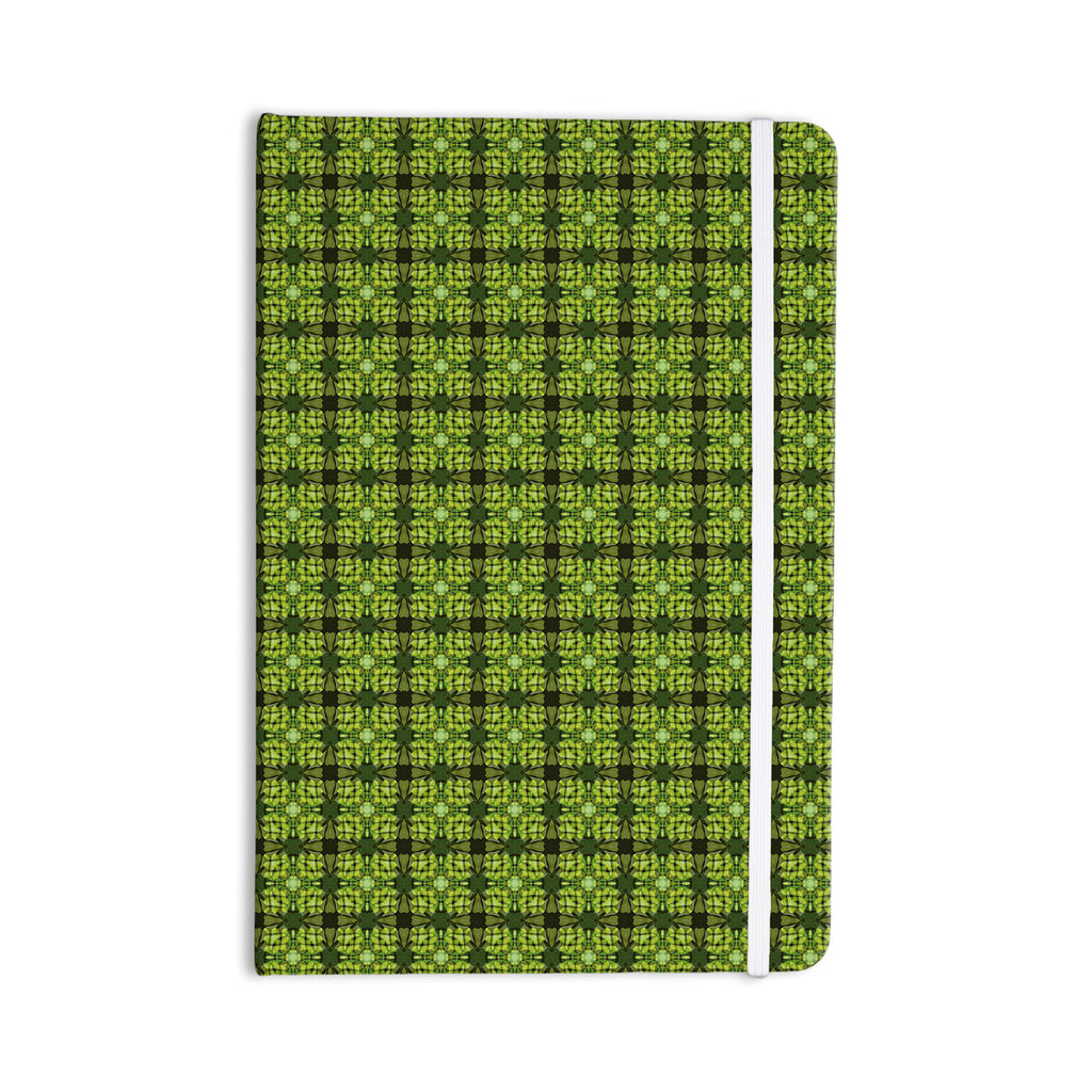 "Matthias Hennig ""Floral Green"" Floral Geometric Everything Notebook - KESS InHouse  - 1"
