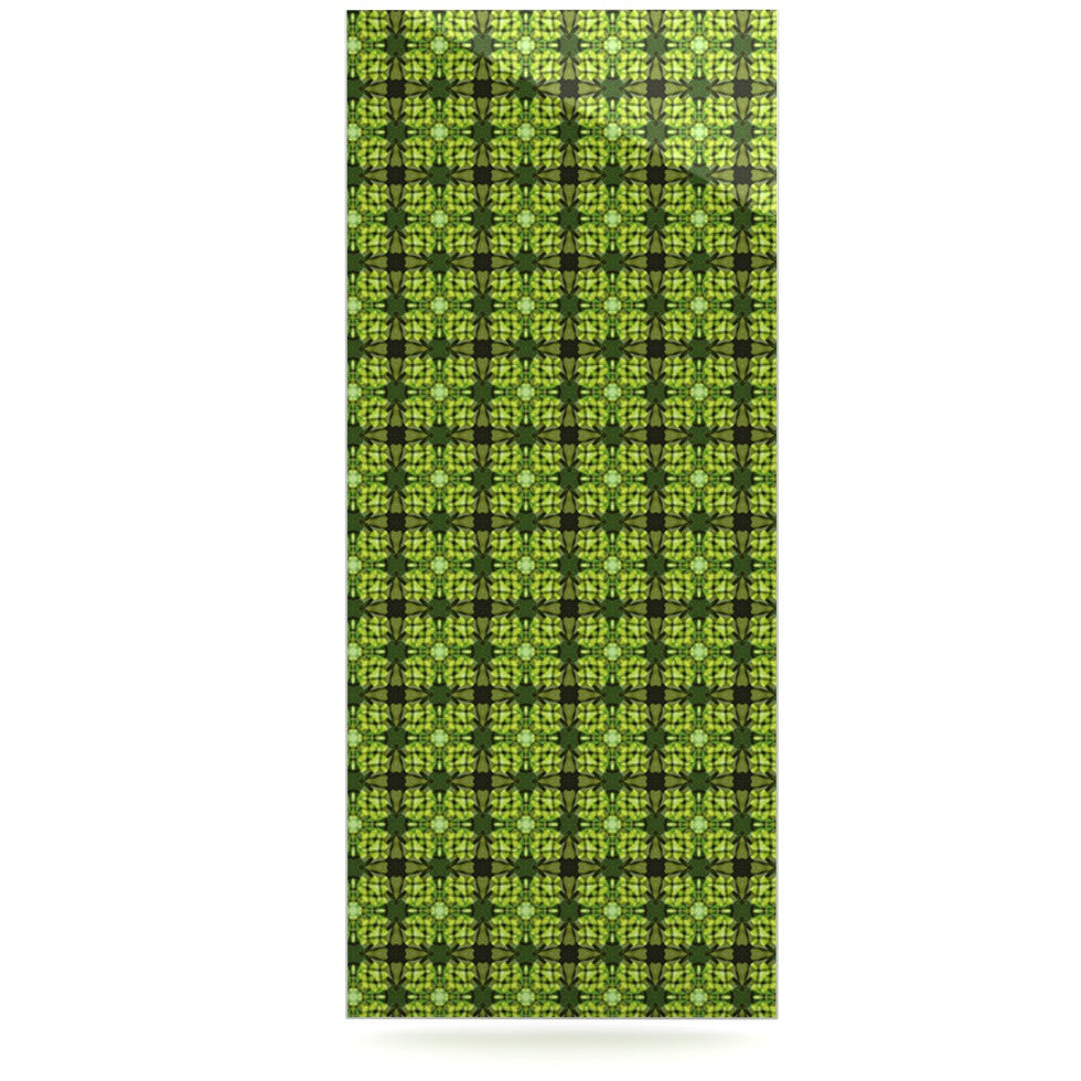 "Matthias Hennig ""Floral Green"" Floral Geometric Luxe Rectangle Panel - KESS InHouse  - 1"