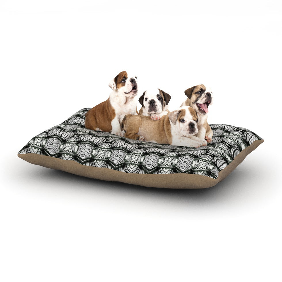 "Matthias Hennig ""Flor"" Black White Dog Bed - KESS InHouse  - 1"