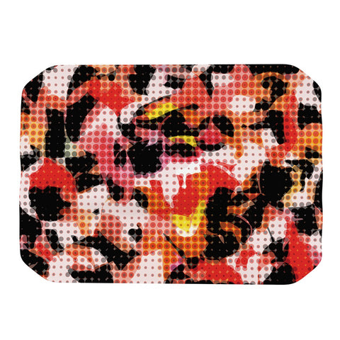 "Matthias Hennig ""Camouflage Grid"" Orange Red Place Mat - KESS InHouse"
