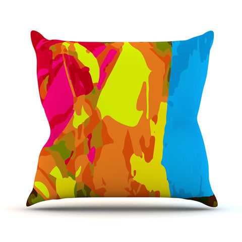 "Matthias Hennig ""Colored Plastic"" Outdoor Throw Pillow - KESS InHouse  - 1"