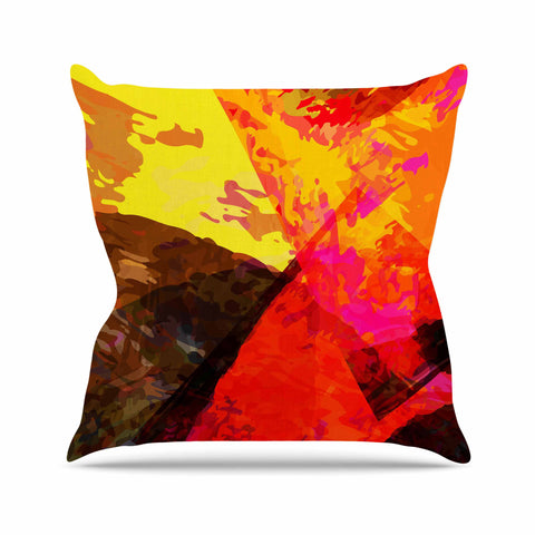 "Matthias Hennig ""Into The Fire"" Red Yellow Outdoor Throw Pillow - KESS InHouse  - 1"