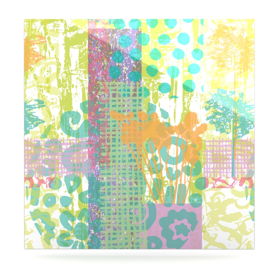 "Chickaprint ""Dazed"" Pastel Splatter Luxe Square Panel - KESS InHouse  - 1"