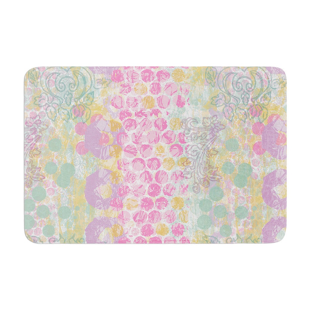 "Chickaprint ""Impression"" Pastel Mix Memory Foam Bath Mat - KESS InHouse"