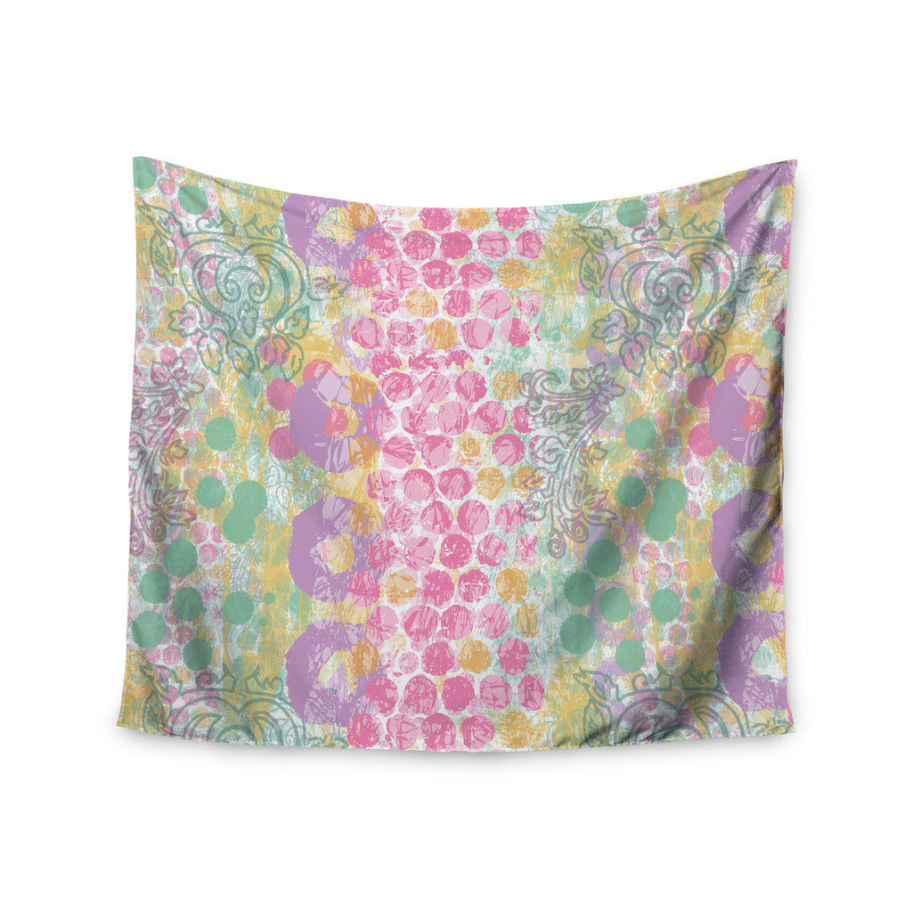 "Chickaprint ""Impression"" Pastel Mix Wall Tapestry - KESS InHouse  - 1"
