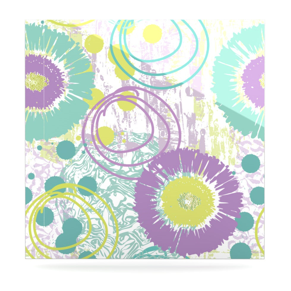 "Chickaprint ""Splatter"" Purple Teal Luxe Square Panel - KESS InHouse  - 1"
