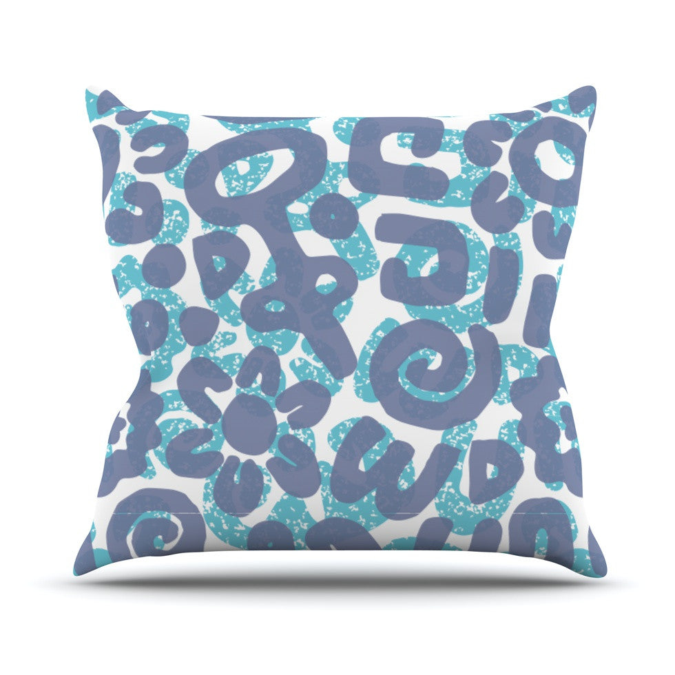 "Chickaprint ""Tribus"" Blue Navy Throw Pillow - KESS InHouse  - 1"