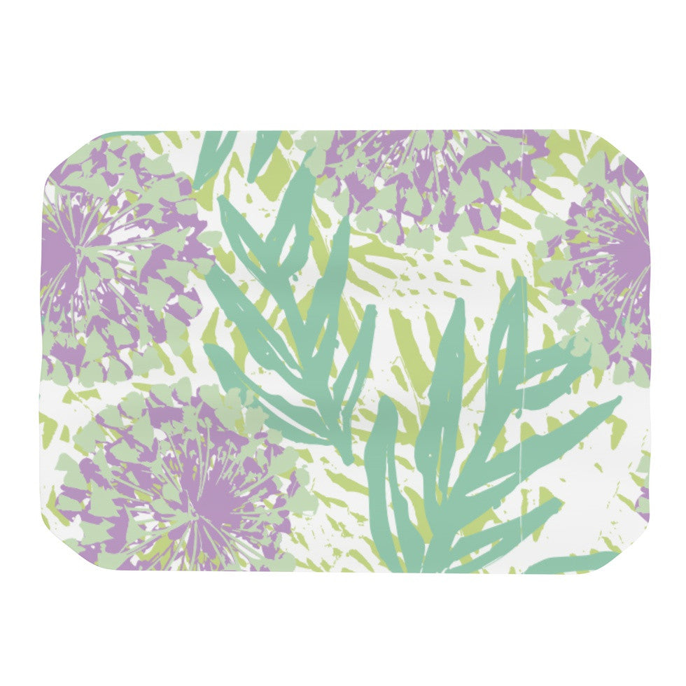 "Chickaprint ""Varen"" Purple Green Place Mat - KESS InHouse"