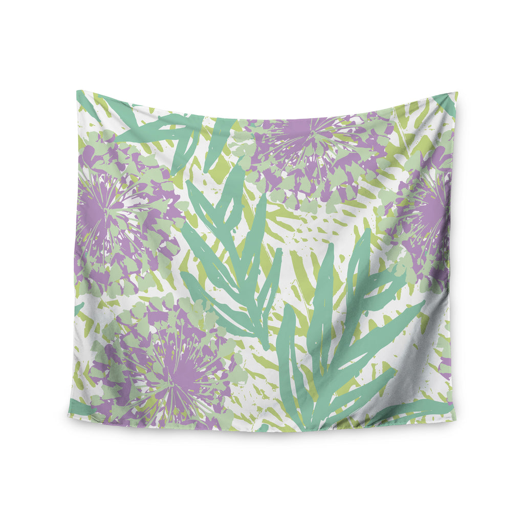 "Chickaprint ""Varen"" Purple Green Wall Tapestry - KESS InHouse  - 1"