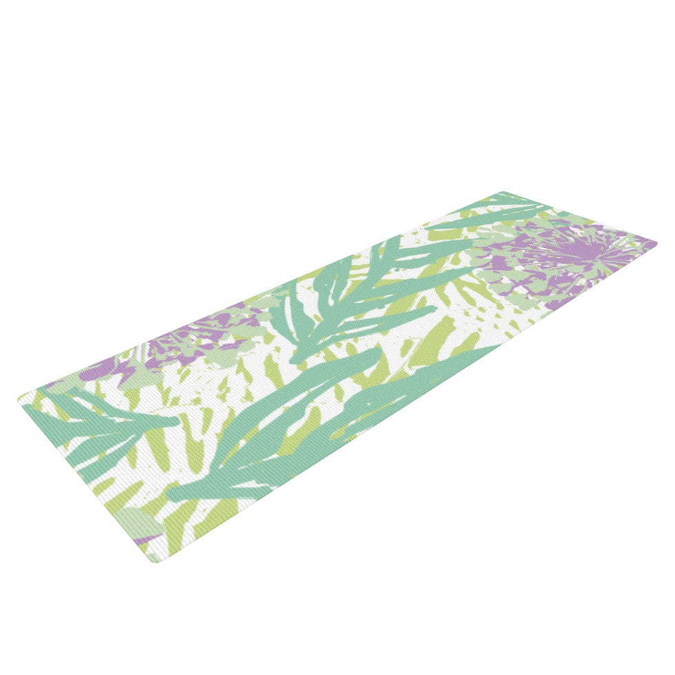 "Chickaprint ""Varen"" Purple Green Yoga Mat - KESS InHouse  - 1"