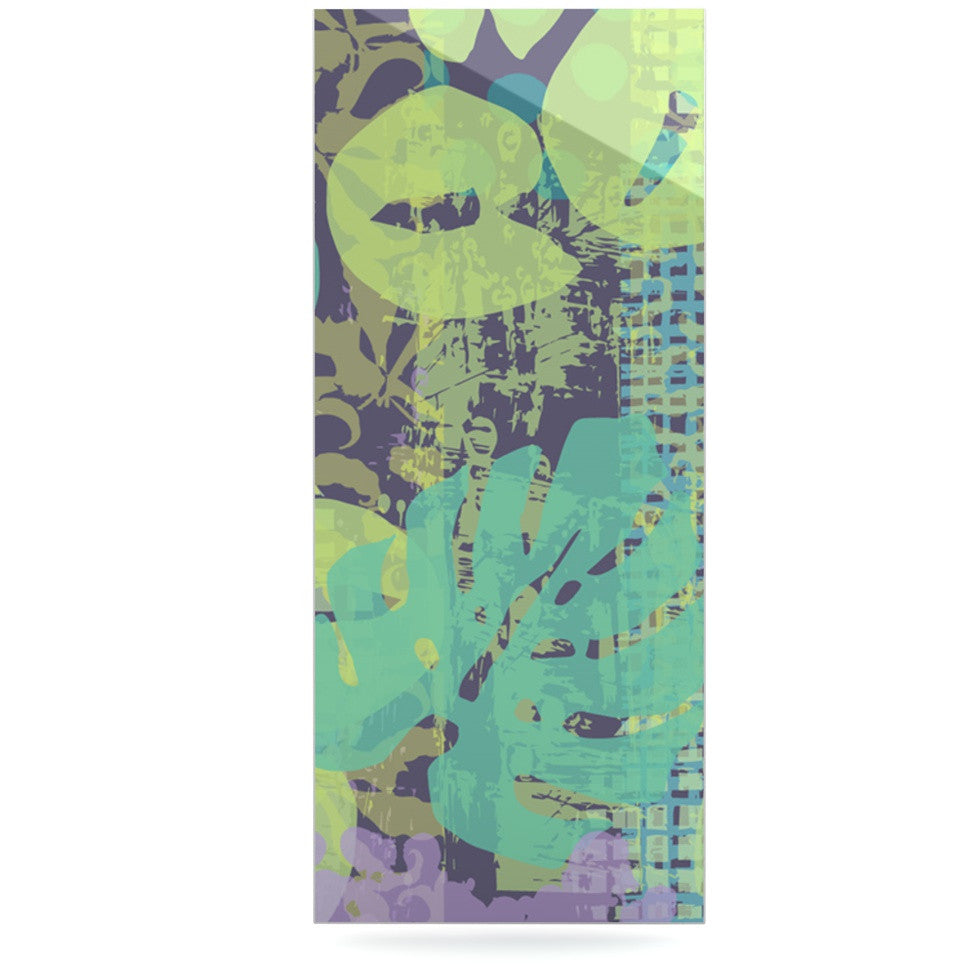 "Chickaprint ""Verdure Collage"" Green Teal Luxe Rectangle Panel - KESS InHouse  - 1"