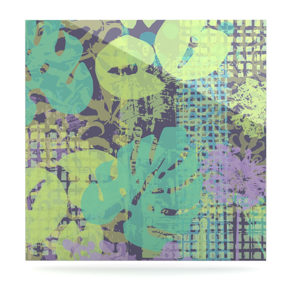 "Chickaprint ""Verdure Collage"" Green Teal Luxe Square Panel - KESS InHouse  - 1"