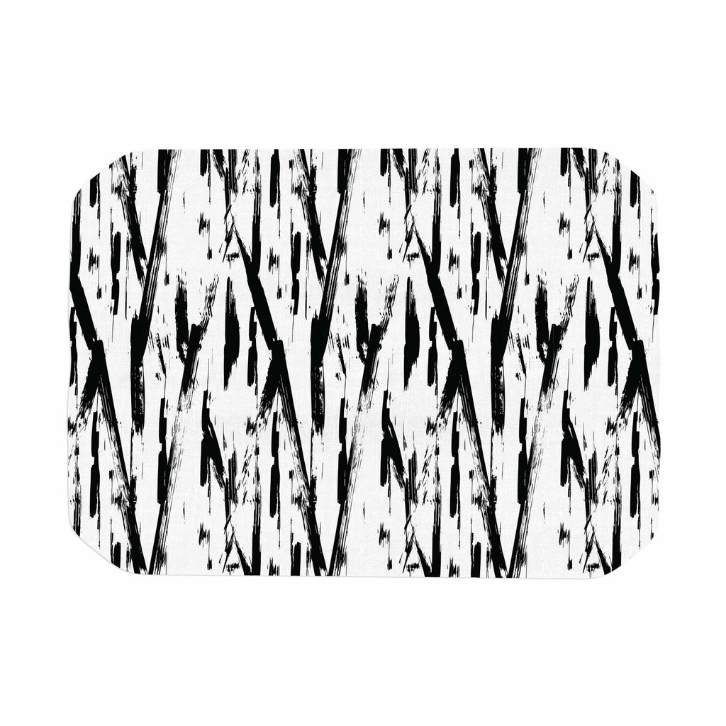 "Hitidesign ""Black And White Brush Stroke"" Black White Vector Place Mat"