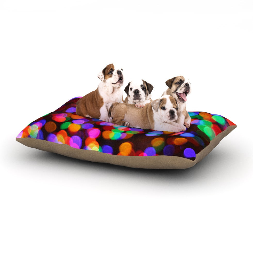 "Maynard Logan ""Lights II"" Dog Bed - KESS InHouse  - 1"