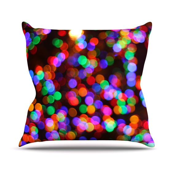 "Maynard Logan ""Lights II"" Throw Pillow - KESS InHouse  - 1"