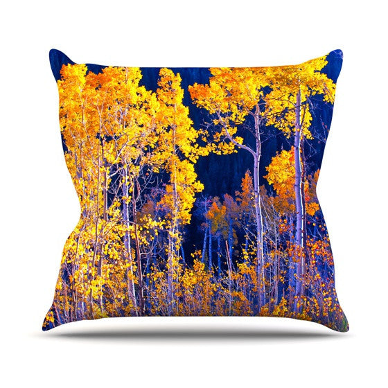 "Maynard Logan ""Trees"" Outdoor Throw Pillow - KESS InHouse  - 1"