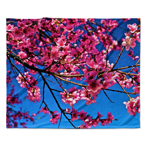 "Maynard Logan ""Flowers"" Fleece Throw Blanket"