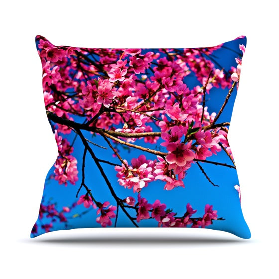 "Maynard Logan ""Flowers"" Throw Pillow - KESS InHouse  - 1"