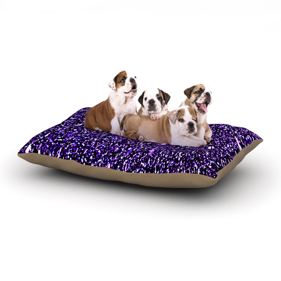 "Maynard Logan ""Purple Dots"" Dog Bed - KESS InHouse  - 1"