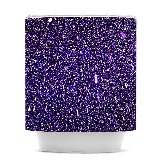 "Maynard Logan ""Purple Dots"" Shower Curtain - KESS InHouse"