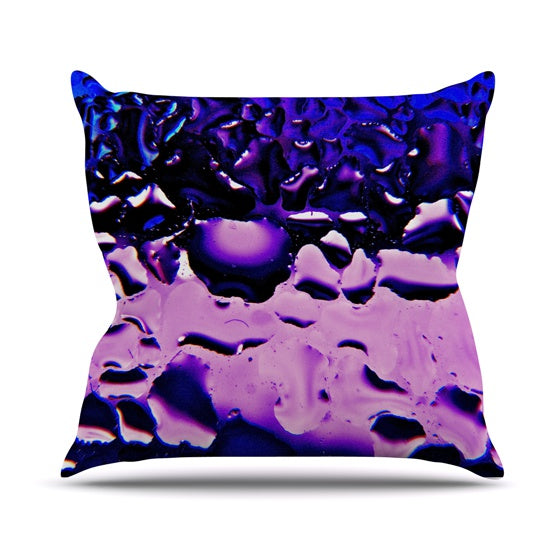 "Maynard Logan ""Window Purple"" Throw Pillow - KESS InHouse  - 1"