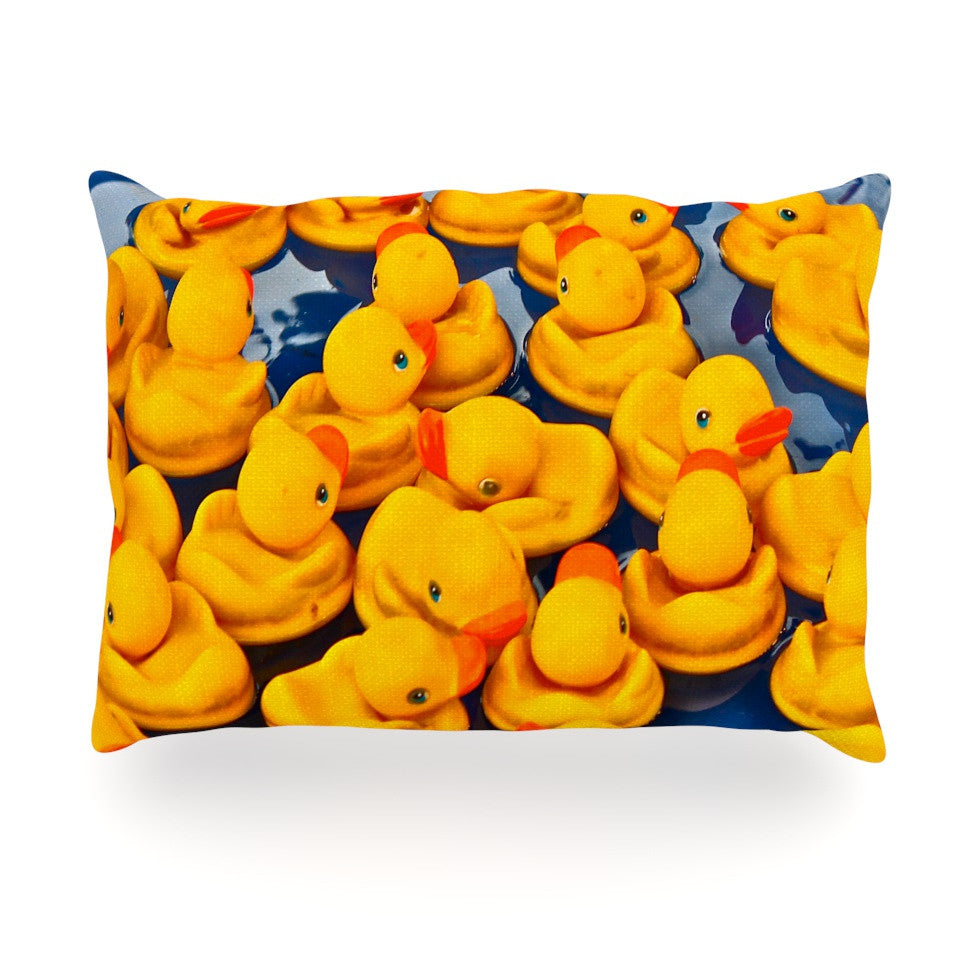 "Maynard Logan ""Duckies"" Oblong Pillow - KESS InHouse"
