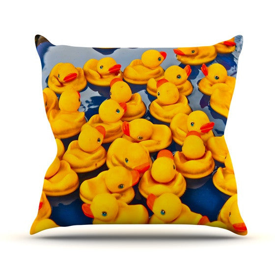 "Maynard Logan ""Duckies"" Outdoor Throw Pillow - KESS InHouse  - 1"