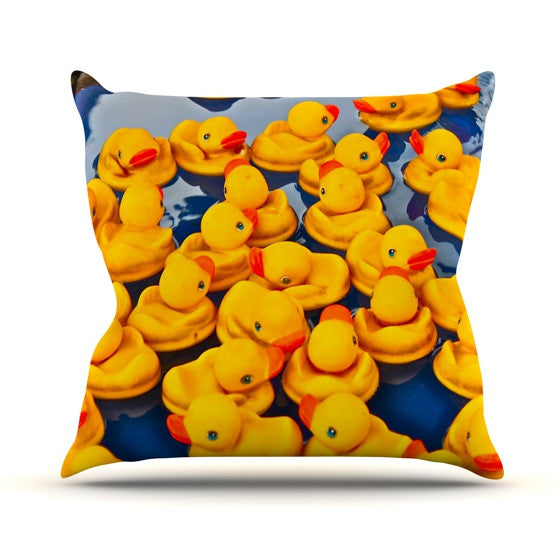 "Maynard Logan ""Duckies"" Throw Pillow - KESS InHouse  - 1"