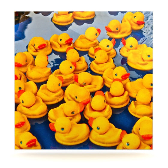 "Maynard Logan ""Duckies"" Luxe Square Metal Art - KESS InHouse  - 1"