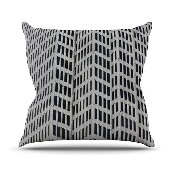 "Maynard Logan ""The Grid"" Outdoor Throw Pillow - KESS InHouse  - 1"