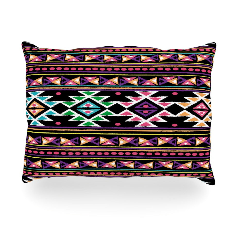 "Nika Martinez ""Black Aylen"" Oblong Pillow - KESS InHouse"