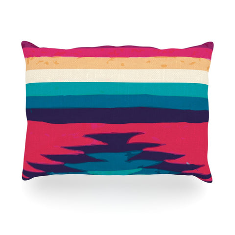 "Nika Martinez ""Surf"" Oblong Pillow - KESS InHouse"