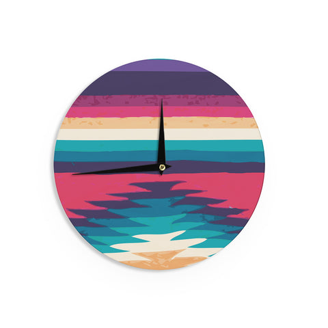 "Nika Martinez ""Surf"" Wall Clock - KESS InHouse"