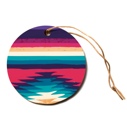 "Nika Martinez ""Surf""  Circle Holiday Ornament"