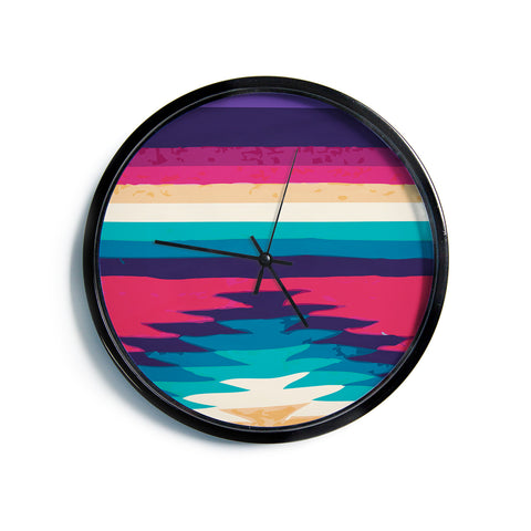 "Nika Martinez ""Surf""  Modern Wall Clock"