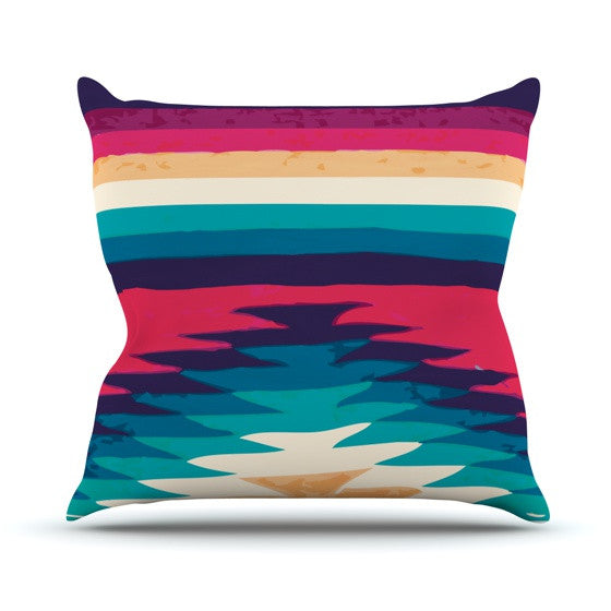 "Nika Martinez ""Surf"" Outdoor Throw Pillow - KESS InHouse  - 1"