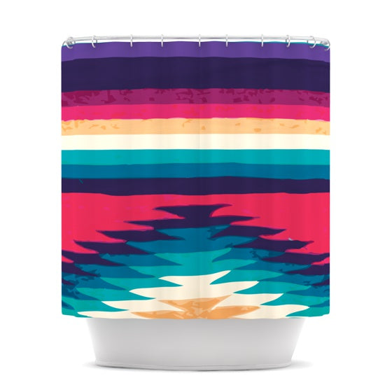 "Nika Martinez ""Surf"" Shower Curtain - KESS InHouse"