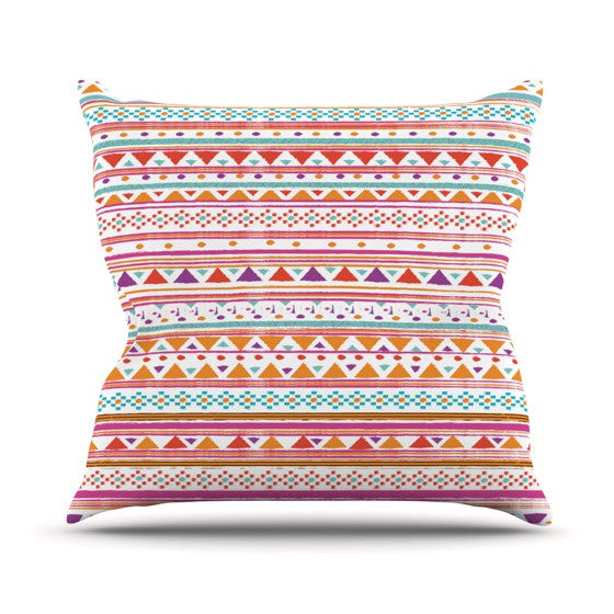 "Nika Martinez ""Native Bandana"" Outdoor Throw Pillow - KESS InHouse  - 1"