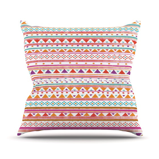 "Nika Martinez ""Native Bandana"" Throw Pillow - KESS InHouse"