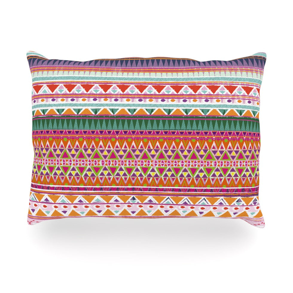 "Nika Martinez ""Chenoa"" Oblong Pillow - KESS InHouse"