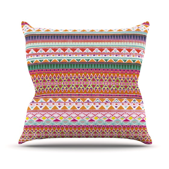 "Nika Martinez ""Chenoa"" Throw Pillow - KESS InHouse  - 1"