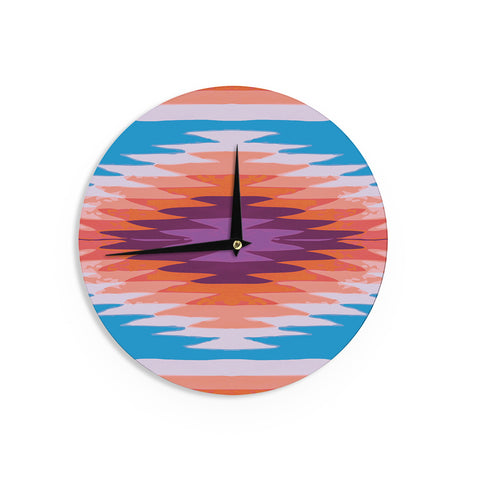 "Nika Martinez ""Surf Lovin Hawaii"" Wall Clock - KESS InHouse"