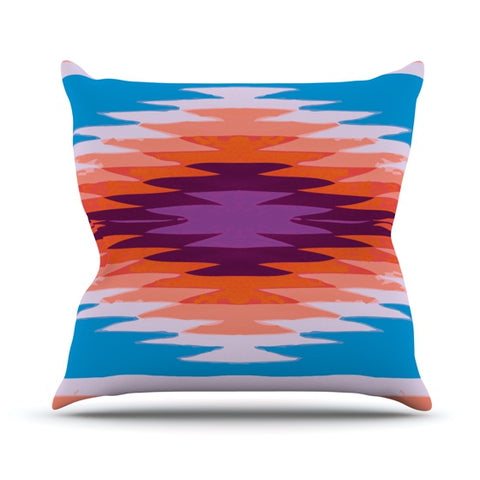 "Nika Martinez ""Surf Lovin Hawaii"" Throw Pillow - KESS InHouse  - 1"