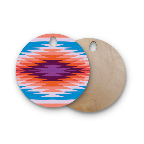 "Nika Martinez ""Surf Lovin Hawaii"" Round Wooden Cutting Board"